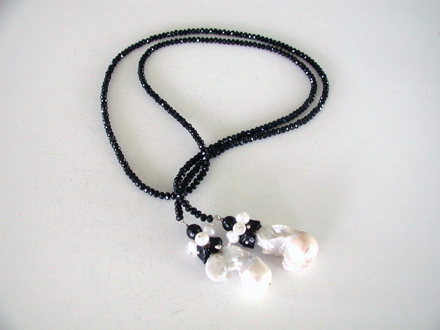 Amy Kahn Russell Online Trunk Show: Black Onyx & Freshwater Pearl Necklace | Rendezvous Gallery