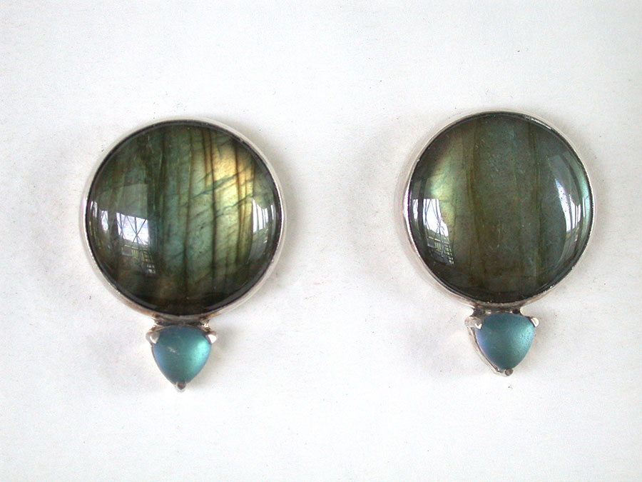 Amy Kahn Russell Online Trunk Show: Labradorite Post Earrings | Rendezvous Gallery