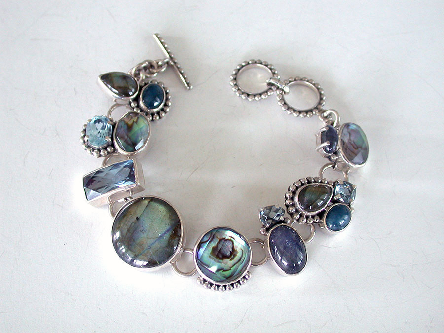 Amy Kahn Russell Online Trunk Show: Abalone, Labradorite, Apatite & Blue Topaz Bracelet | Rendezvous Gallery