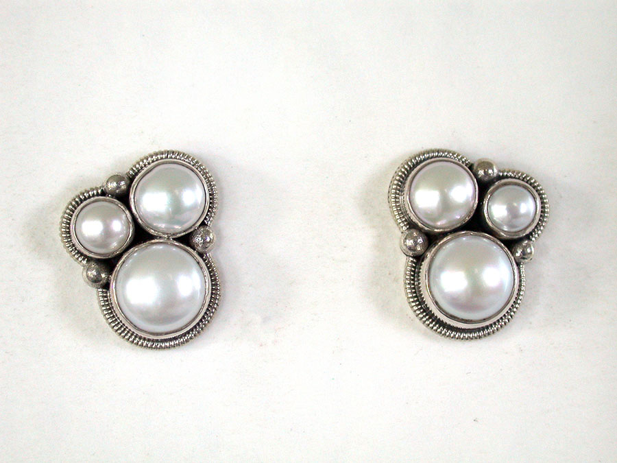 Amy Kahn Russell Online Trunk Show: Freshwater Pearl Post Earrings | Rendezvous Gallery