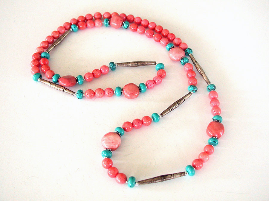 Amy Kahn Russell Online Trunk Show: Coral, Turquoise & Bronze Necklace | Rendezvous Gallery