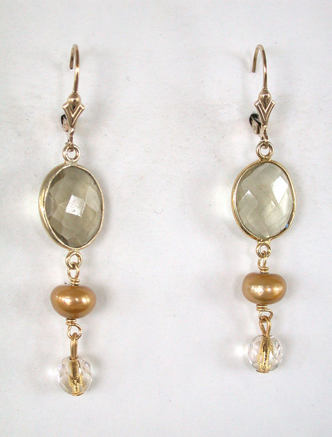 Amy Kahn Russell Online Trunk Show: Quartz & Pearl Earrings | Rendezvous Gallery