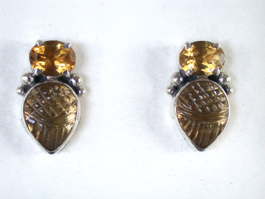 Amy Kahn Russell Online Trunk Show: Citrine Clip Earrings | Rendezvous Gallery