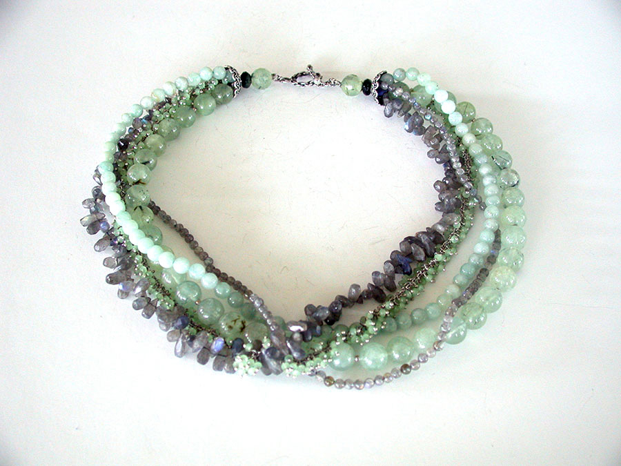 Amy Kahn Russell Online Trunk Show: Prehnite, Labradorite & Agate Necklace | Rendezvous Gallery