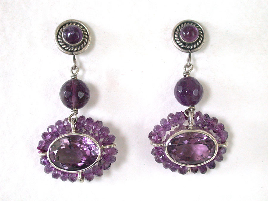 Amy Kahn Russell Online Trunk Show: Amethyst Post Earrings | Rendezvous Gallery