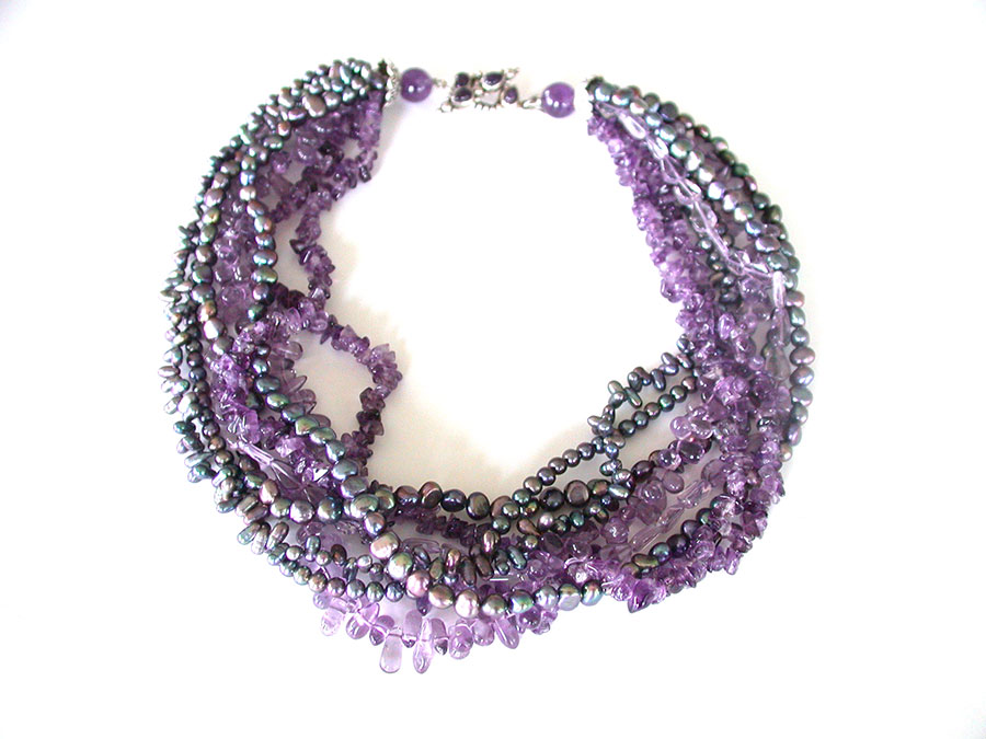 Amy Kahn Russell Online Trunk Show: Freshwater Pearl & Amethyst Necklace | Rendezvous Gallery