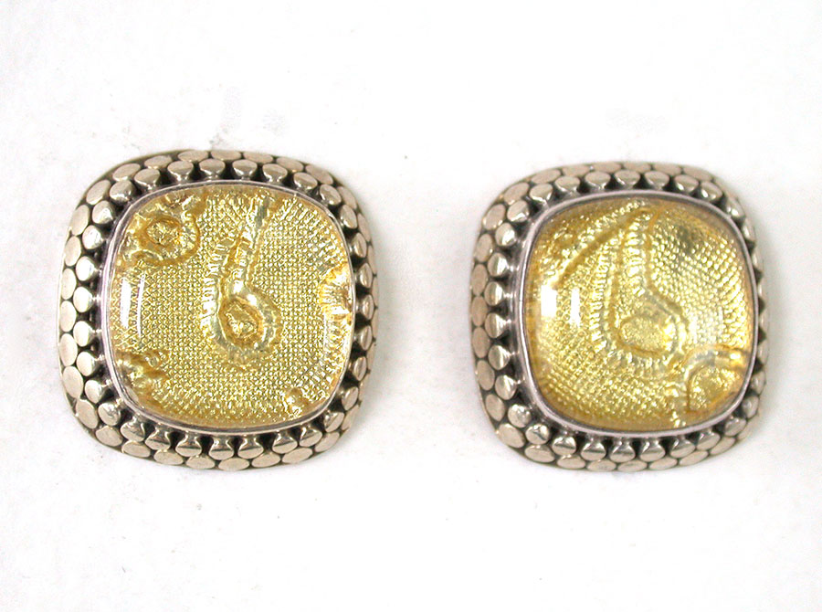 Amy Kahn Russell Online Trunk Show: Gold Foil with Quartz Clip Earrings | Rendezvous Gallery