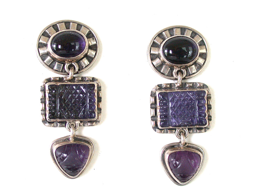 Amy Kahn Russell Online Trunk Show: Iolite Clip Earrings | Rendezvous Gallery