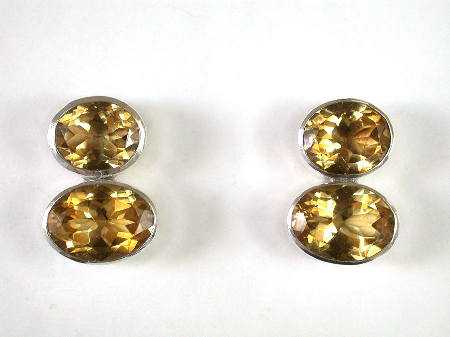 Amy Kahn Russell Online Trunk Show: Faceted Citrine Post Earrings | Rendezvous Gallery