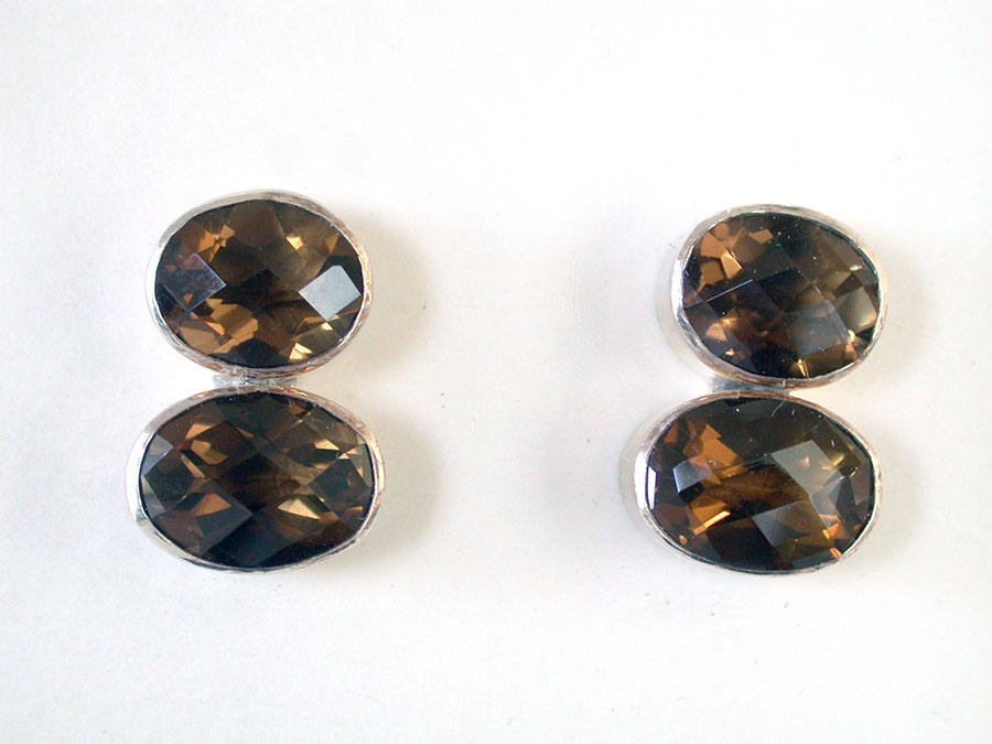 Amy Kahn Russell Online Trunk Show: Whiskey Quartz Clip Earrings | Rendezvous Gallery