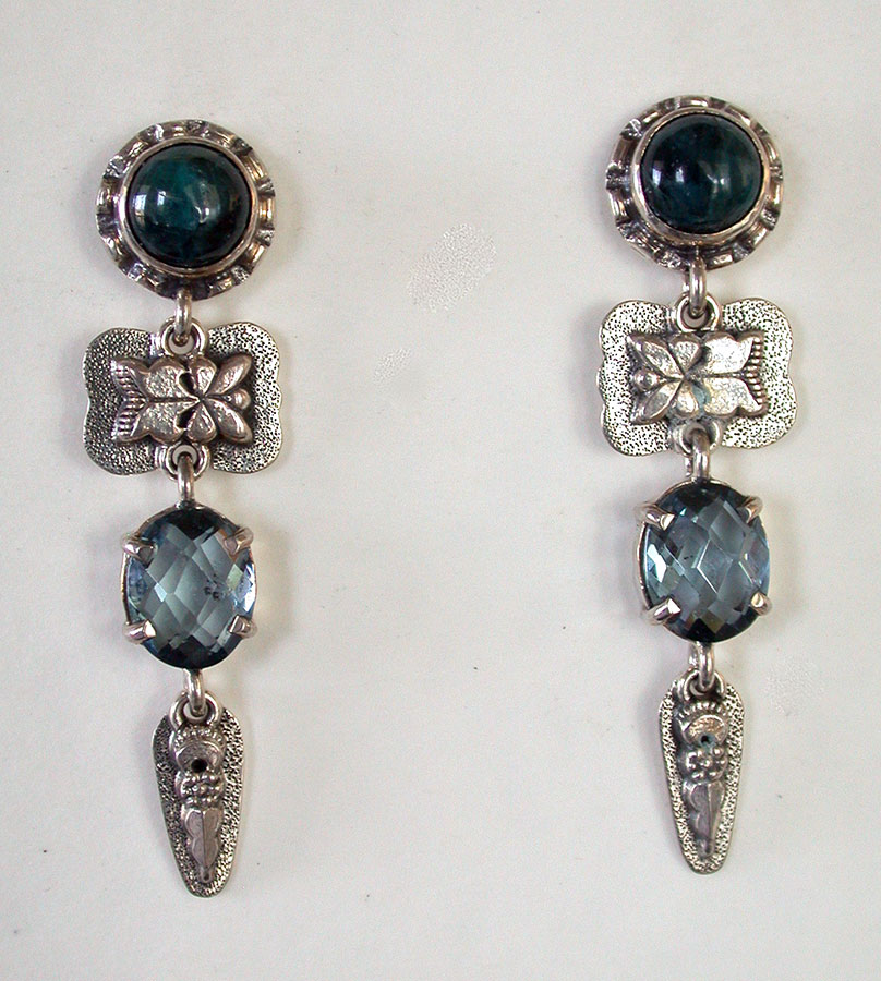 Amy Kahn Russell Online Trunk Show: Apatite & Quartz Post Earrings | Rendezvous Gallery