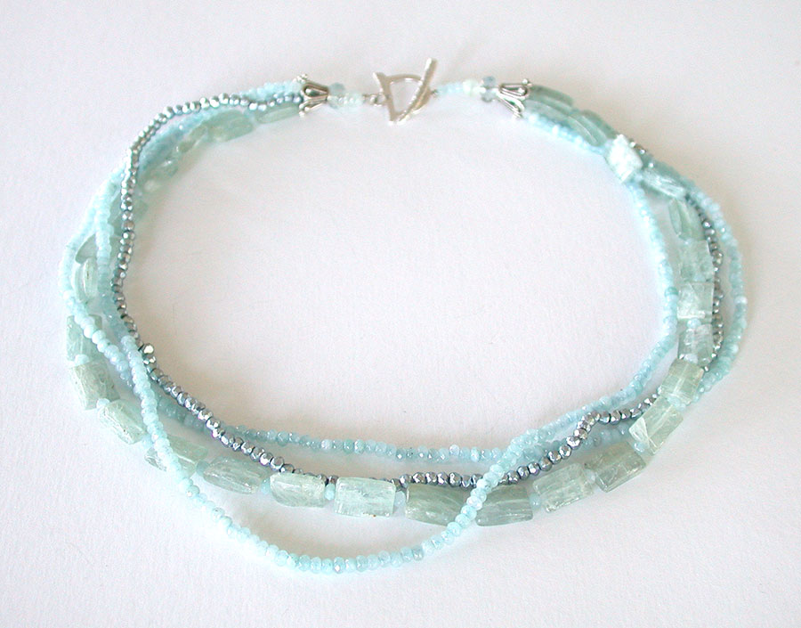 Amy Kahn Russell Online Trunk Show: Kyanite, Aquamarine & Crystal Necklace | Rendezvous Gallery