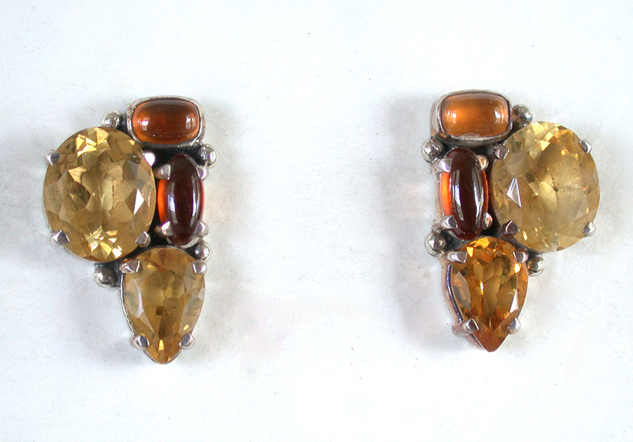 Amy Kahn Russell Online Trunk Show: Hessonite & Citrine Post Earrings | Rendezvous Gallery
