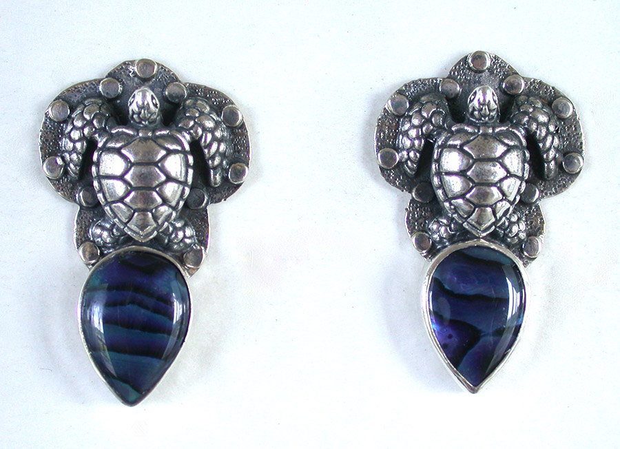 Amy Kahn Russell Online Trunk Show: Sterling Silver & Abalone Post Earrings | Rendezvous Gallery