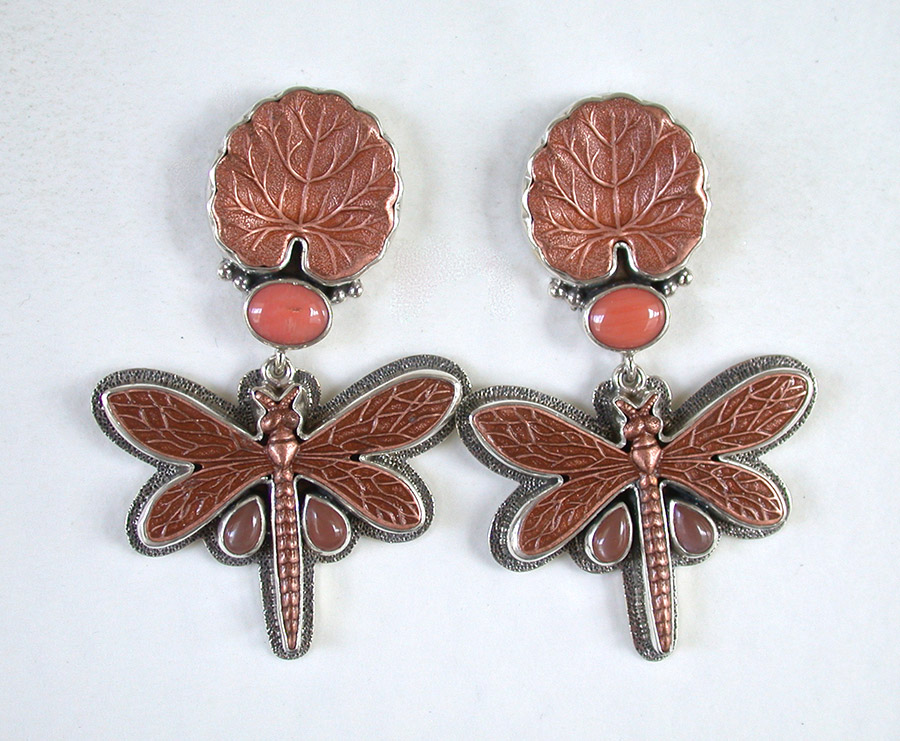 Amy Kahn Russell Online Trunk Show: Copper & Coral Post Earrings | Rendezvous Gallery