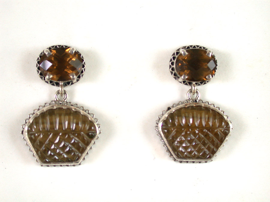 Amy Kahn Russell Online Trunk Show: Whiskey Quartz Post Earrings | Rendezvous Gallery