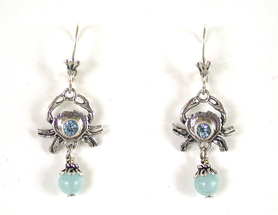 Amy Kahn Russell Online Trunk Show: Blue Topaz, Aquamarine & Sterling Silver Earrings | Rendezvous Gallery
