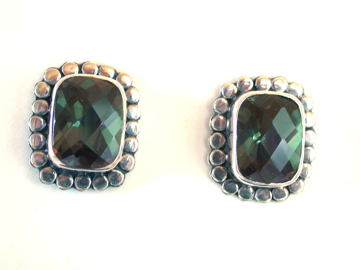 Amy Kahn Russell Online Trunk Show: Faceted Quartz Post Earrings | Rendezvous Gallery