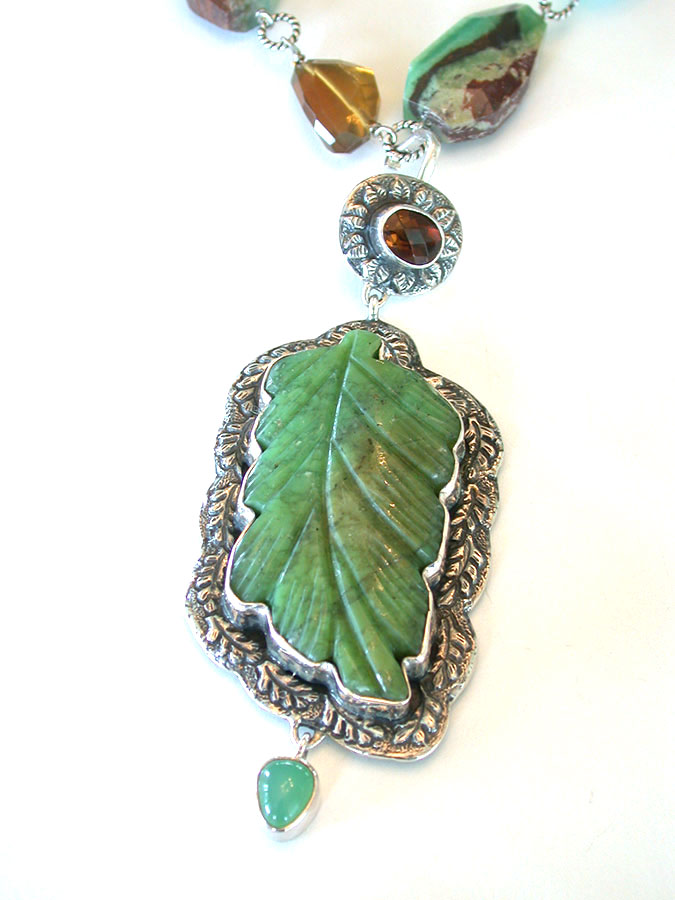Amy Kahn Russell Online Trunk Show: Chrysoprase, Turquoise & Quartz Necklace | Rendezvous Gallery