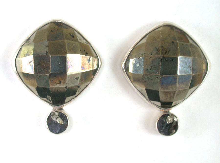 Amy Kahn Russell Online Trunk Show: Chalco Pyrite & Slade Pyrite Clip Earrings | Rendezvous Gallery