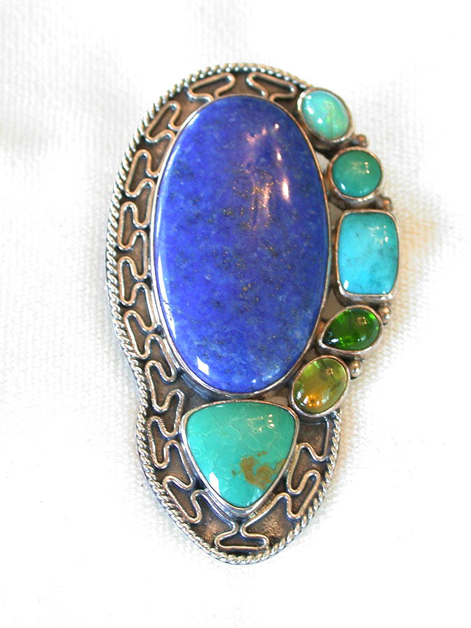 Amy Kahn Russell Online Trunk Show: Lapis Lazuli, Opal, Amazonite & Peridot Pin/Pendant | Rendezvous Gallery