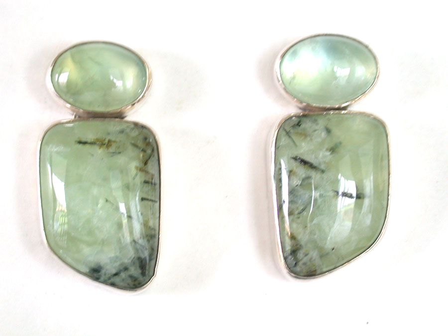 Amy Kahn Russell Online Trunk Show: Prehnite Post Earrings | Rendezvous Gallery