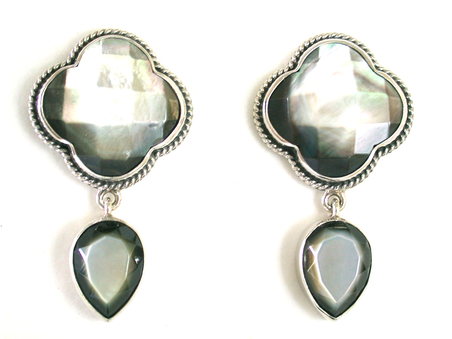 Amy Kahn Russell Online Trunk Show: Mother of Pearl Post Earrings | Rendezvous Gallery