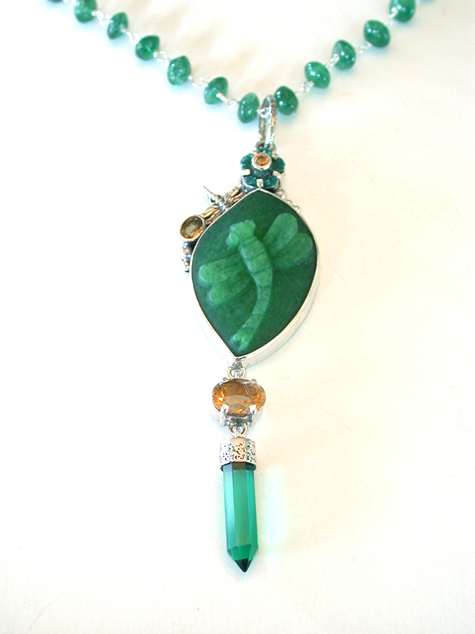 Amy Kahn Russell Online Trunk Show: Agate, Citrine & Chrome Diopside Necklace | Rendezvous Gallery