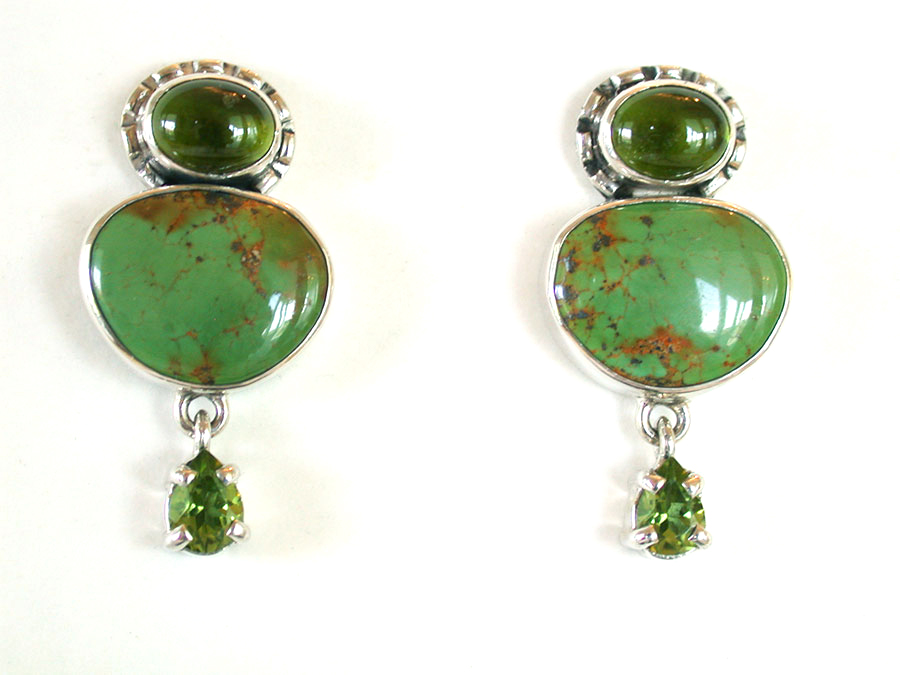 Amy Kahn Russell Online Trunk Show: Peridot & Turquoise Post Earrings | Rendezvous Gallery