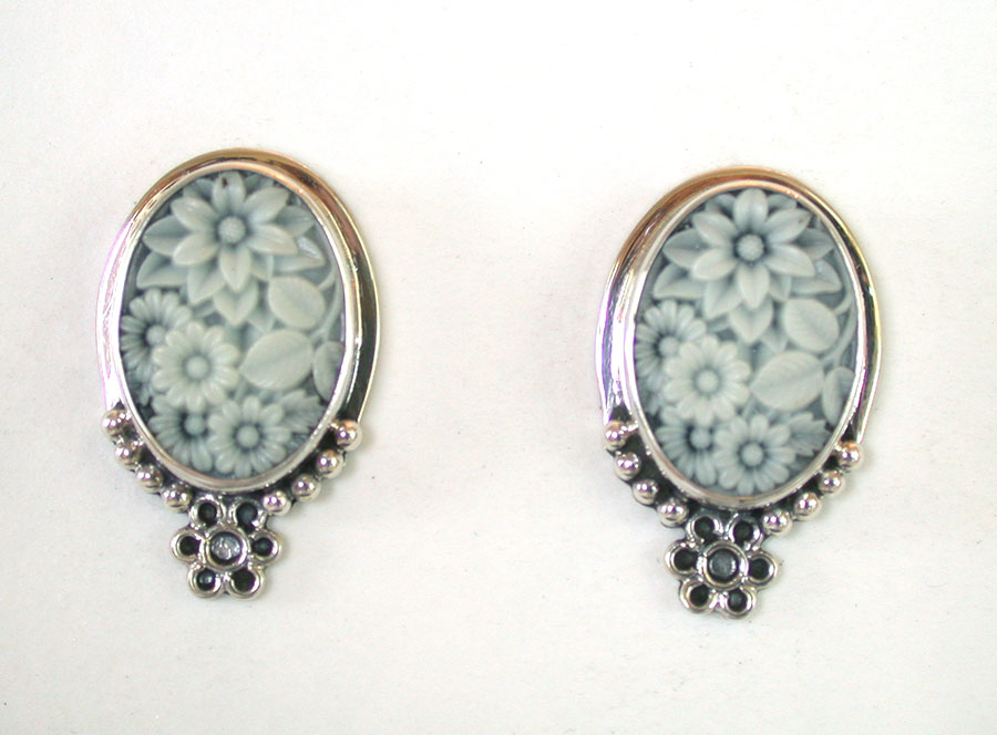 Amy Kahn Russell Online Trunk Show: Carved Lucite Clip Earrings | Rendezvous Gallery