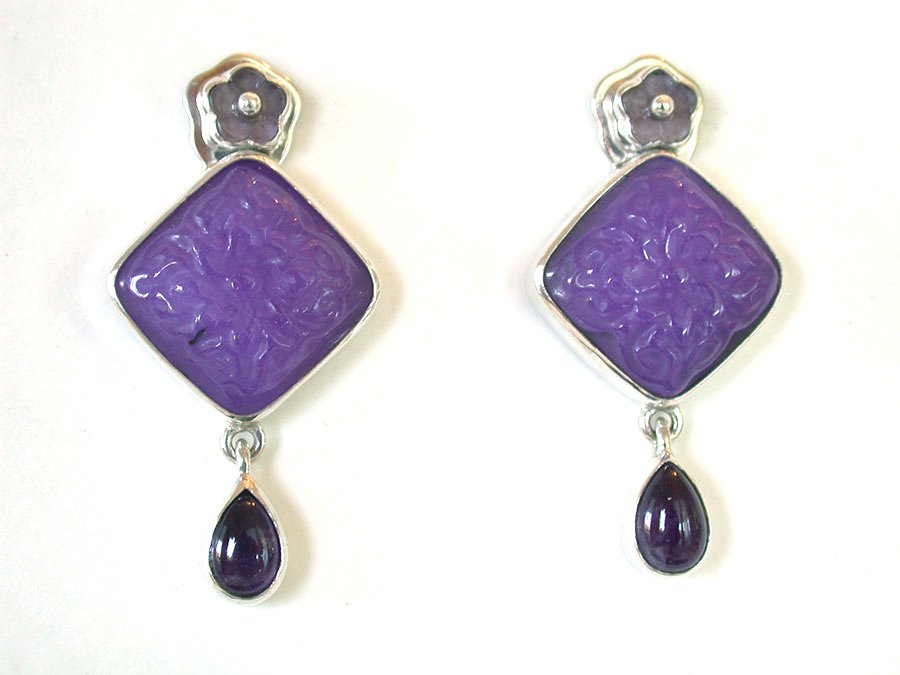 Amy Kahn Russell Online Trunk Show: Cape Amethyst, Carved Purple Agate, & Amethyst Post Earrings | Rendezvous Gallery