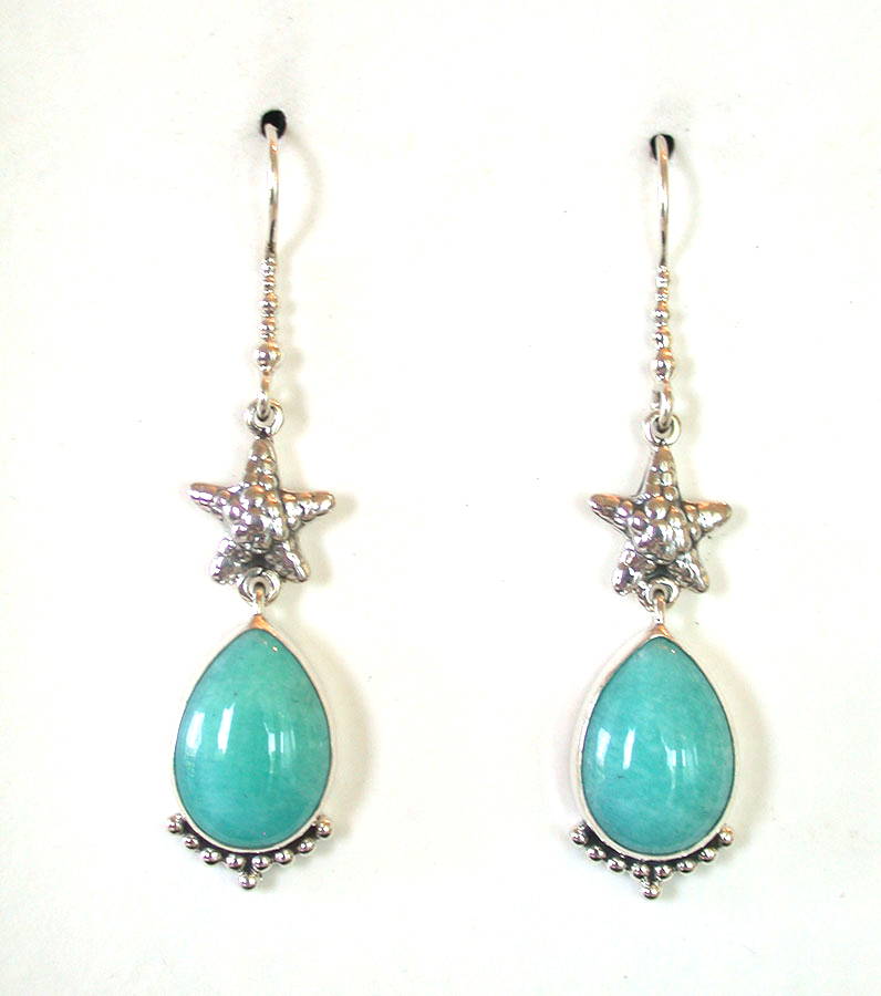 Amy Kahn Russell Online Trunk Show: Amazonite Earrings | Rendezvous Gallery