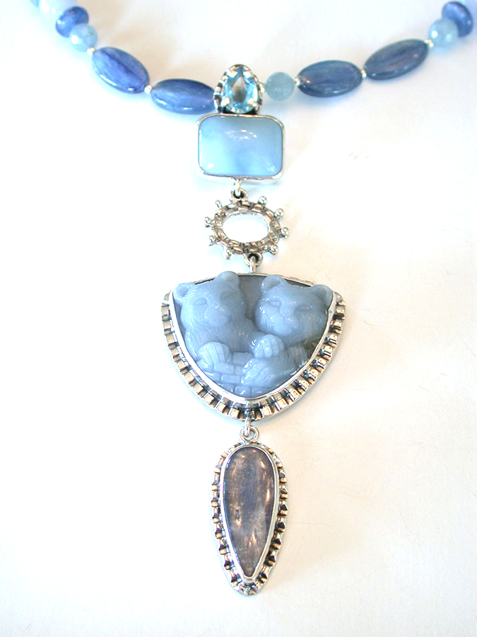 Amy Kahn Russell Online Trunk Show: Blue Topaz, Blue Opal & Kyanite Necklace | Rendezvous Gallery