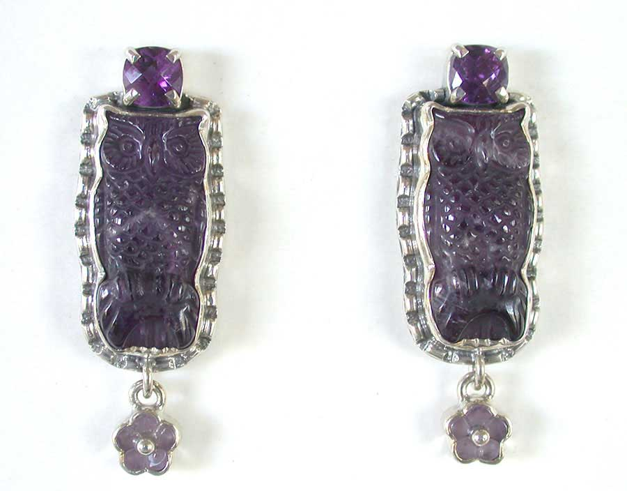 Amy Kahn Russell Online Trunk Show: Amethyst & Cape Amethyst Post Earrings | Rendezvous Gallery