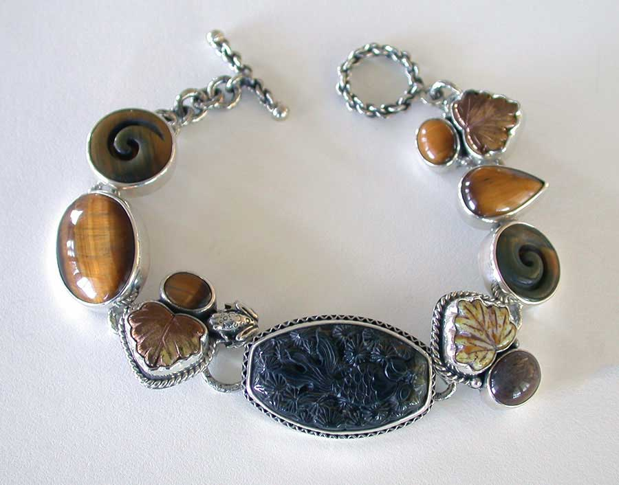 Amy Kahn Russell Online Trunk Show: Tiger's Eye & Hypersthene Bracelet | Rendezvous Gallery