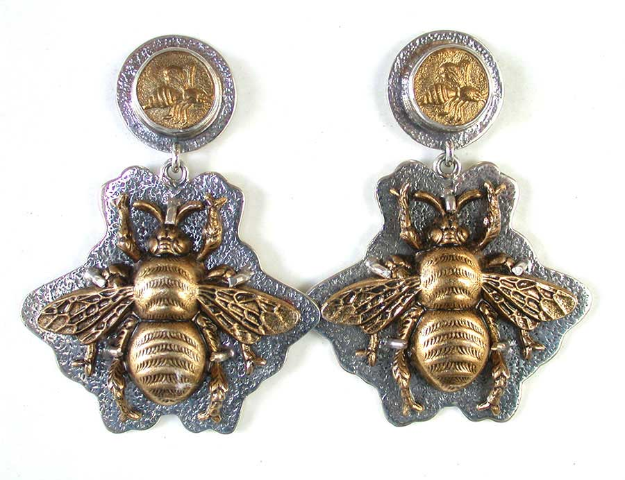 Amy Kahn Russell Online Trunk Show: Brass & Sterling Silver Post Earrings | Rendezvous Gallery