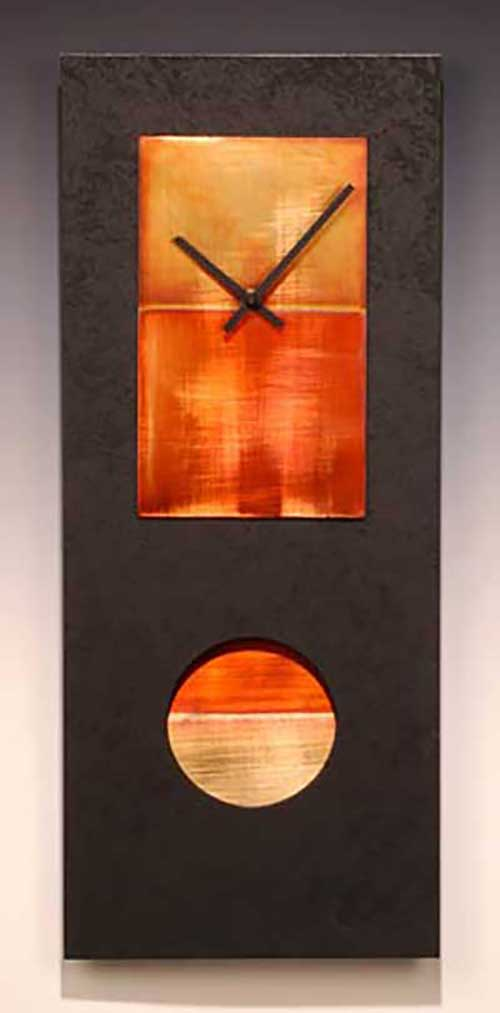 Leonie Lacouette: Black w/Copper Pendulum Wall Clock | Rendezvous Gallery
