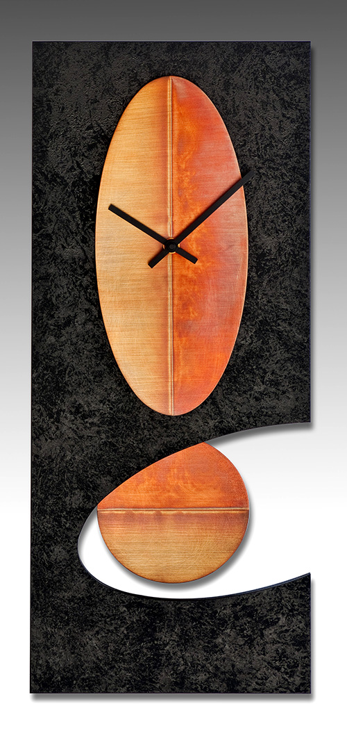 Leonie Lacouette: Black w/Copper Cutout Pendulum Wall Clock | Rendezvous Gallery
