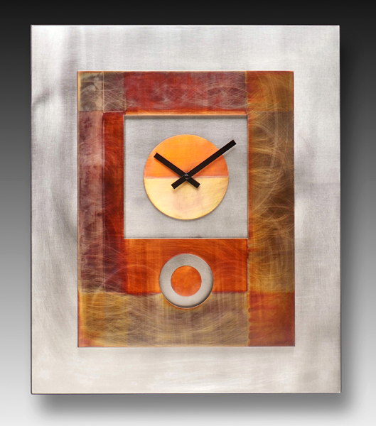 Leonie Lacouette: Blocked-In Pendulum  Wall Clock or Triptych | Rendezvous Gallery