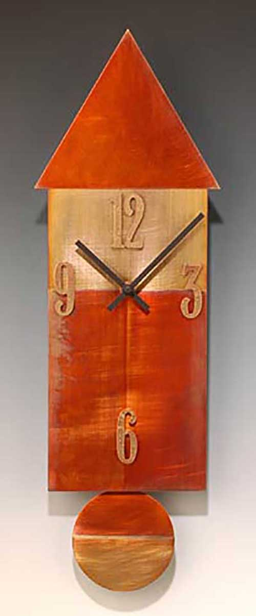 Leonie Lacouette: Copper House Pendulum Wall Clock | Rendezvous Gallery