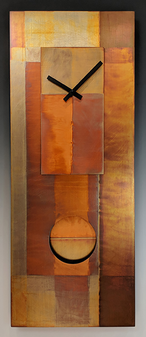 Leonie Lacouette: Copper Pendulum Wall Clock | Rendezvous Gallery