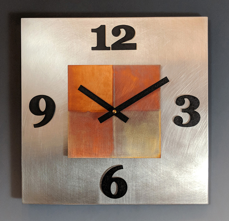 Leonie Lacouette: Kitchen Steel Wall Clock | Rendezvous Gallery