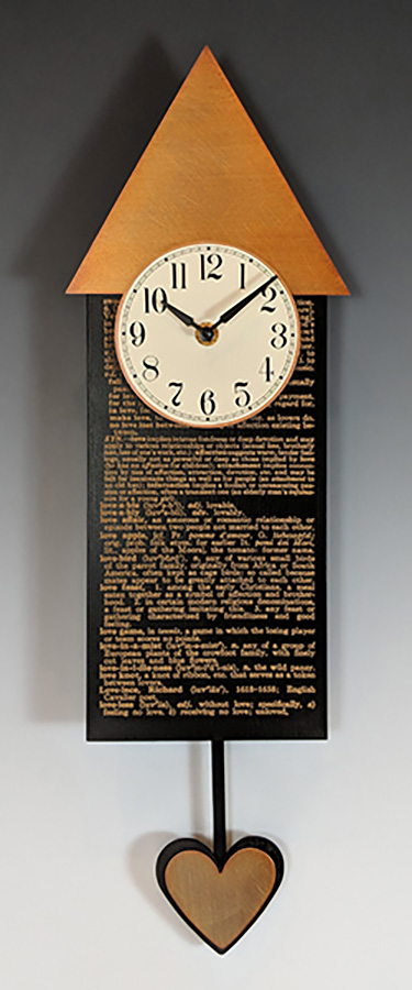 Leonie Lacouette: Love Pendulum Wall Clock | Rendezvous Gallery