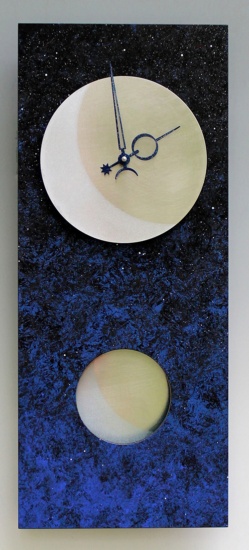 Leonie Lacouette: Moon at Midnight Pendulum Wall Clock | Rendezvous Gallery