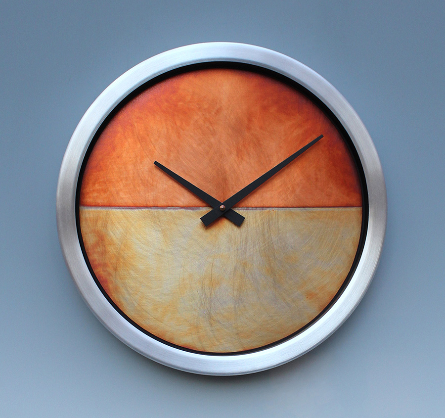 Leonie Lacouette: Nate (Copper/Aluminum) Wall Clock | Rendezvous Gallery