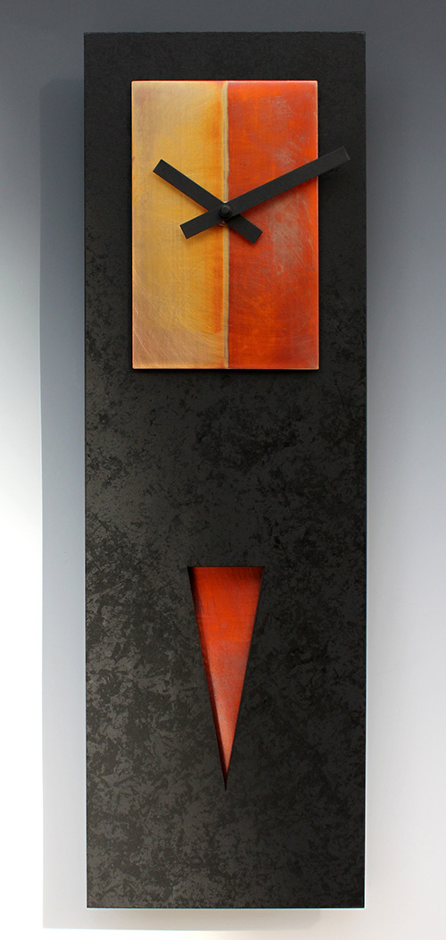 Leonie Lacouette: Spike (Black/Copper) Pendulum Wall Clock | Rendezvous Gallery