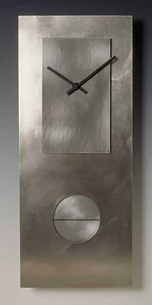 Leonie Lacouette: Stainless Steel Pendulum Wall Clock | Rendezvous Gallery