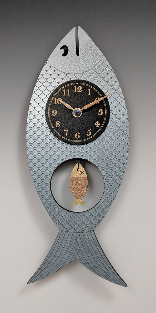 Leonie Lacouette: Wanda (Blue) Pendulum Wall Clock | Rendezvous Gallery