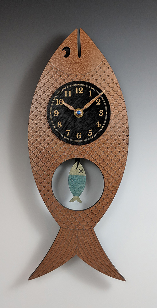 Leonie Lacouette: Wanda (Copper) Pendulum Wall Clock | Rendezvous Gallery