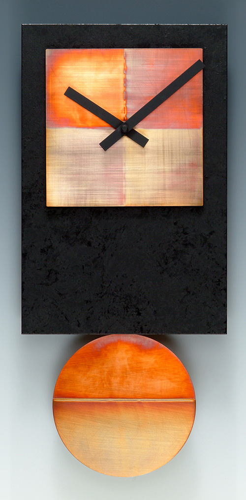 Leonie Lacouette: Black Tie w/Copper Pendulum Wall Clock | Rendezvous Gallery